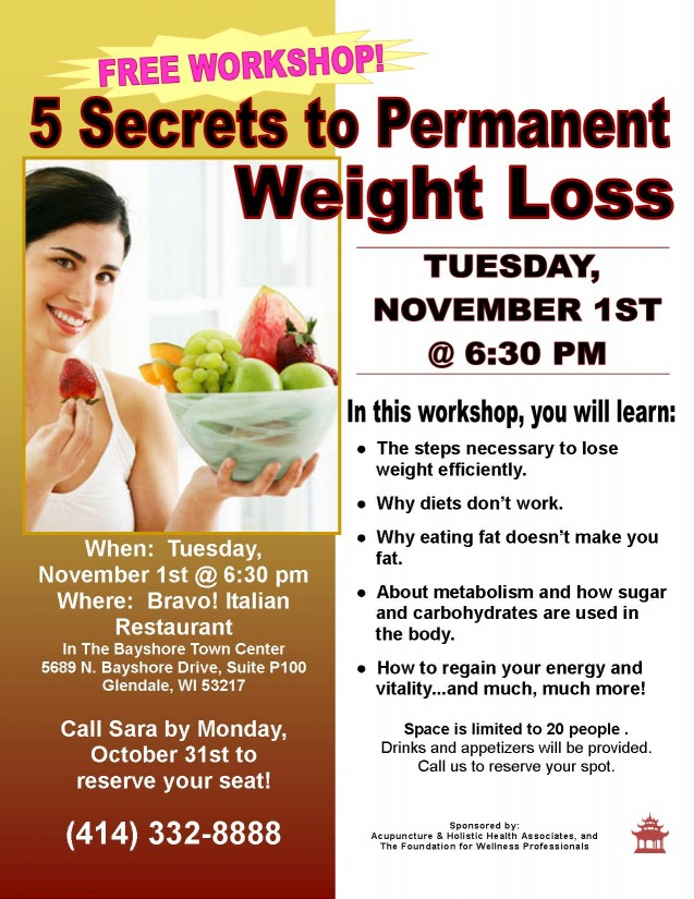 weight loss flier