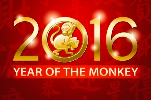 chinese new year red monkey